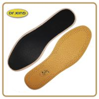 Quality High class pig or cow leather insole, genuine real leather footbed comfort cushion for sale