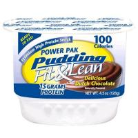 Quality Protein Fit Ln Power Pack Pudding Delicious Dutch Chocolate 4 Cups - 4.5 oz. each for sale