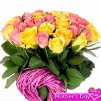 Quality Pink and Yellow Roses NO.31 delivery flower to taiwan for sale