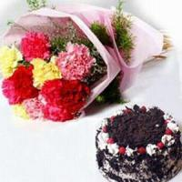 Carnations and Cake NO.26 delivery cake to taiwan