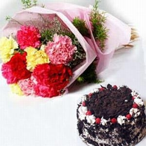 Buy Carnations and Cake NO.26 delivery cake to taiwan at wholesale prices