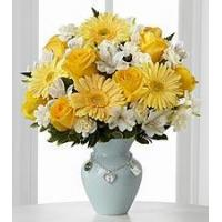 Quality Yellow rose and white carnation NO.52 taipei flower delivery for sale