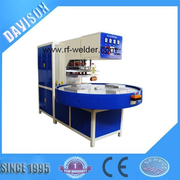Buy 12KW 4 Stations Automatic Turntable Radio Frequency PVC Blister Packaging Machine at wholesale prices