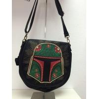 STAR WARS Loungefly x Star Wars Black Boba Fett Satchel