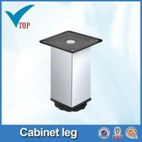 Quality Adjustable height chrome metal furniture feet for sale