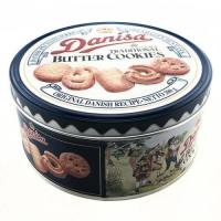 China butter cookies tin pack biscuit tin box on sale