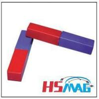 Buy cheap Red and Blue Plastic Covered Bar Magnets from wholesalers