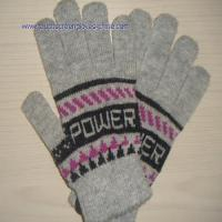 Quality Wool Jacquard Touch Screen Gloves for sale