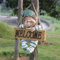 Quality welcome resin gnome garden ornament statue for sale
