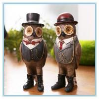 Quality vintage owl small resin figurine for sale