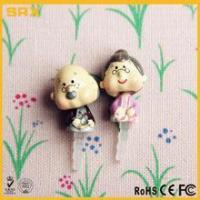 Quality 2 pcs 3.5mm Earcap Anti-dust Plug,CUSTOM Cartoon Grandpa & Grandma Lover For Cell Phone manufacturer for sale