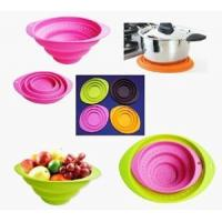 Quality Hot sell silicone collapsible fruit basket / folding bowl with OEM design for sale