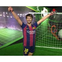 Quality Football Star Wax Figure Lionel Messi for sale