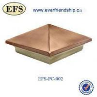 "wood base pyramid copper top post cap for 8"" post"