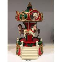 Happiness ladder christmas carousel music box christmas animated musical toys