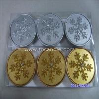 Quality Lovely Snowflake Tealight Candle Winter Holiday Gift Snow Flower for sale