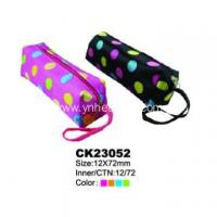 China custom logo zippered pencil pouch on sale
