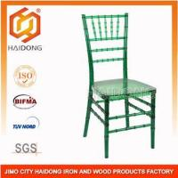 Quality Green Polycarbonate Resin party banquet hotel Chiavari Chair for sale