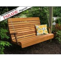 Quality Red Cedar Royal Highback Porch Swing for sale