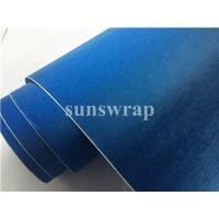 Quality Blue Brushed Steel Vinyl Film for sale