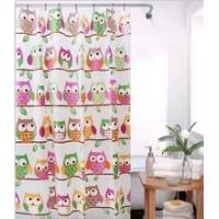 Quality New style cartoon peva shower curtain with hook 180*180cm for sale