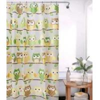 Quality New style owl peva shower curtain with hook 180*180cm for sale