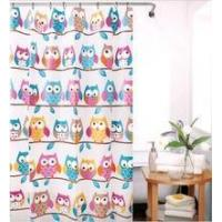 Quality Cartoon bathroom peva shower curtain with hook 180*180cm for sale