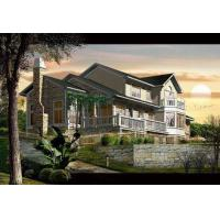 China Waterproof Prefab Villa Prefabricated Houses Fireproof High Acoustic Insulation on sale