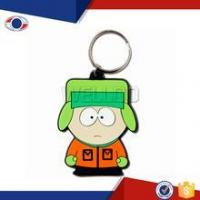 Quality Fashion cartoon character cute pvc keyring for sale