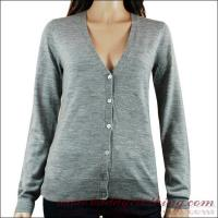 Quality 95/5 Cotton/Wool Fitted Knit Cardigan Women 12001 for sale
