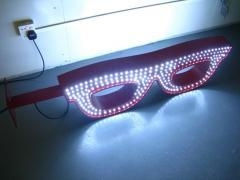 Buy LED Glasses Sign outdoor advertising logo sign for glasses shop , LED neon sign board at wholesale prices
