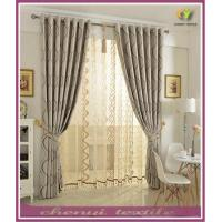Quality 100% Polyester European Blackout Simple Bay Window Curtain for sale