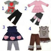 Quality Valentine's day fashion design girls boutique clothing sets for sale