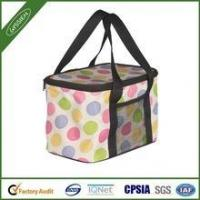 Quality Alibaba China insulating cute dotted insulated folding cooler bag,folding cooler bag for sale
