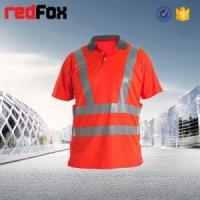 Quality high vis reflective safety 100 polyester polo shirts wholesale for sale