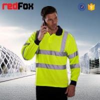 Quality reflective safety vest with long sleeves polo shirt design for sale
