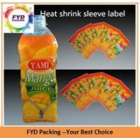 Quality Recyclable Plastic PETG Labels Shrink Wrap For Square Bottle for sale