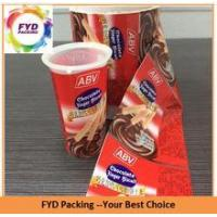 Quality Beautiful Printed Shrink Wrap Plastic Cup Sleeves for sale
