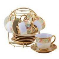 China cup+saucer+stand Hot sale CHAOZHOU factory tea cup and saucer stands on sale