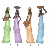 Quality ITEM NO: BCA6160-25 SIZE(CM): 6*5*24 MOQ(PCS): 960 DESCRIPTION: POLY AFRICAN FIGURE for sale
