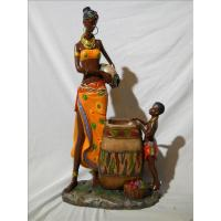 Quality ITEM NO: LSY11030 SIZE(CM): 22*12.5*41 MOQ(PCS): DESCRIPTION: POLY AFRICAN DESIGN FOUNTAIN for sale