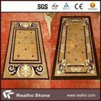 Quality imperial gold marble inlay flooring design for sale
