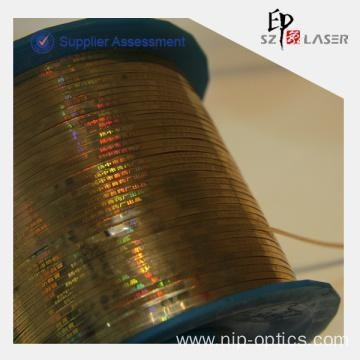 China 35 micron Bopp Hologram Tear Strip Tape with Personalized Logo