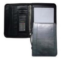 Quality A4 Zip PU Leather Portfolio Folder With Handle for sale