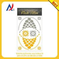 Quality wholesale tattoo bracelet body art shiny gold temporary flash tattoos for sale