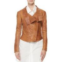 Leather Jacket Women Leather Jacket With Ponte Fabric for sale