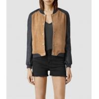 Leather Jacket Women Suede Bomber Jackets for sale