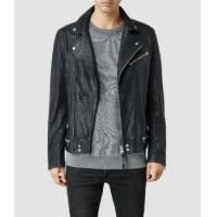 China Leather Jacket Men's Lamb Biker Jackets With Zipper Closed on sale