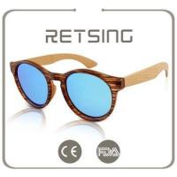2016 natural bamboo sunglasses in stock with UV400 polarized lenses