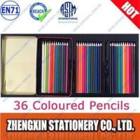 Quality 36 coloured pencils in tin box for sale